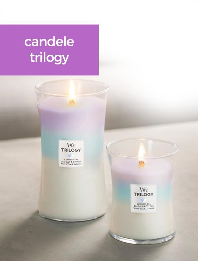 woodwick candele trilogy