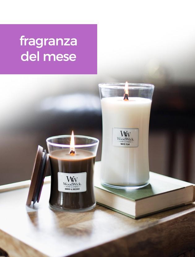 woodwick fragranza del mese