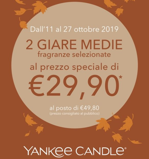 yankee candle promo 2 giare medie