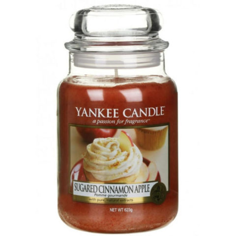 yankee candle premium sugared cinnamon apple