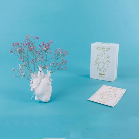 vaso cuore seletti love in bloom