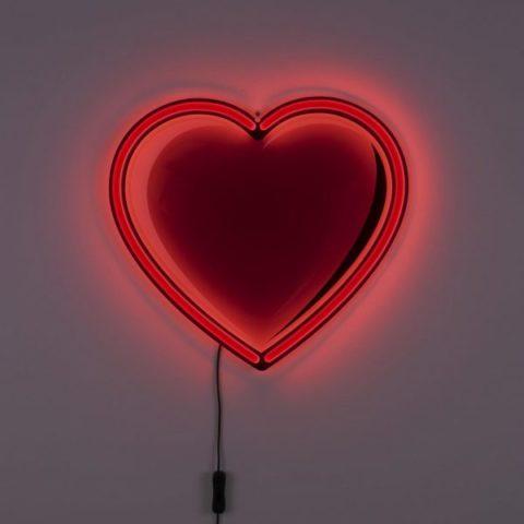 seletti led heart lamp
