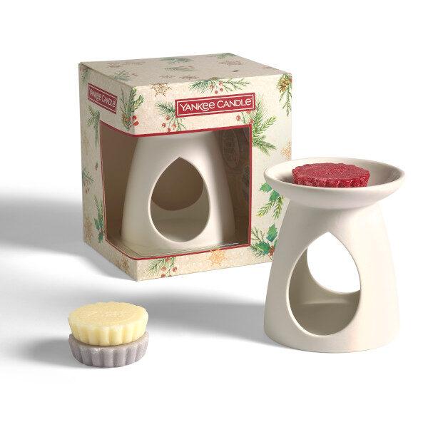 yankee candle gift set bruciatore con 3 tarte e 1 tealight