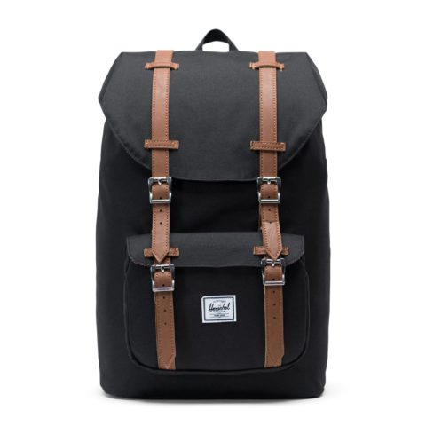 herschel little america black tan