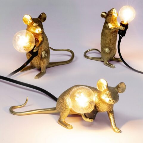 Mmlouse lamp gold seletti